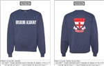UA heathered navy crew