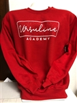 Ursuline splatter red crew sweatshirt