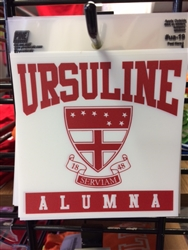 UA-19 Alumna car decal