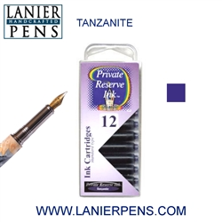 Private Reserve Tanzanite 12 Pack Cartridge Fountain Pen Ink C07 - Lanier Pens