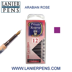 Private Reserve Arabian Rose 12 Pack Cartridge Fountain Pen Ink C25 - Lanier Pens