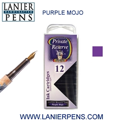 Private Reserve Purple Mojo 12 Pack Cartridge Fountain Pen Ink C31 - Lanier Pens