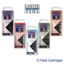Private Reserve 12 Pack Cartridge Fountain Pen Ink - Lanier Pens