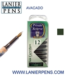 Private Reserve Avacado 12 Pack Cartridge Fountain Pen Ink C12 - Lanier Pens