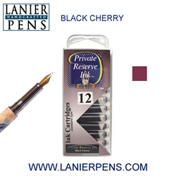 Private Reserve Black Cherry 12 Pack Cartridge Fountain Pen Ink C16 - Lanier Pens