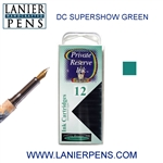 Private Reserve DC Supershow Green 12 Pack Cartridge Fountain Pen Ink C34 - Lanier Pens