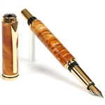 Baron Fountain Pen - Yellow Box Elder Burl