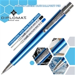 Diplomat Magnum Ball Point Pen - Aegean Blue