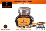 Delta Fountain Pen Ink - Brown