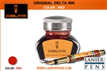 Delta Fountain Pen Ink - Red