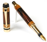 Classic Elite Fountain Pen - Cocobolo with Yellow Box Elder Inlays