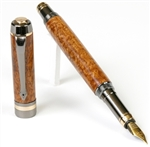 Elite Fountain Pen - Afzilia Burl