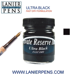 Private Reserve Ultra Black Fast Dry Fountain Pen Ink Bottle 33-F-UB  - Lanier Pens
