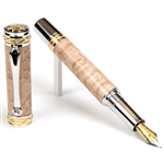 Majestic Fountain Pen - Birds Eye Maple