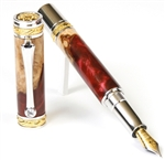Majestic Fountain Pen - Red Tide