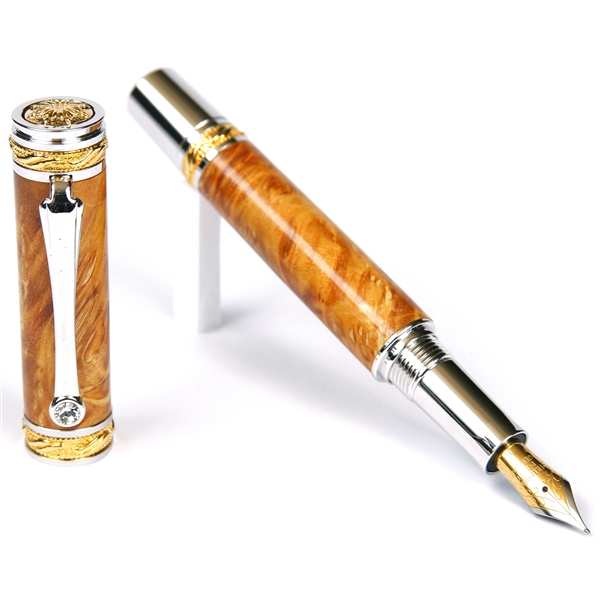 Majestic Fountain Pen - Yellow Box Elder