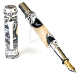 Majestic Fountain Pen - Black Pearl