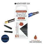 Monteverde G305CP Ink Cartridges Clear Case Gemstone Canyon Rust- Pack of 12