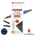 Monteverde G305FO Ink Cartridges Clear Case Gemstone Fireopal- Pack of 12
