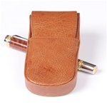 Aston Leather Pen Box Round – Tan Triple