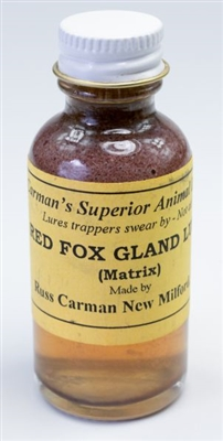 Carman's Red Fox Gland Lure