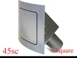 45 Series Square Curved Fuel Door (hinged on left)