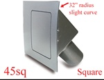 45 Series Square Quarter Panel Door (hinged on left)
