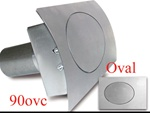90 Series Oval Curved Fuel Door