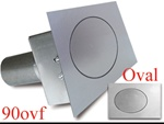 90 Series Oval Flat Fuel Door