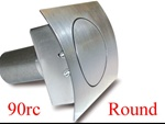 90 Series Round Curved Fuel Door