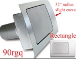 90 Series Rectangle Quarter Panel Fuel Door