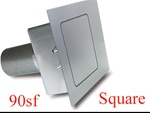 90 Series Square Flat Fuel Door