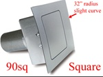 90 Series Square Quarter Panel Fuel Door
