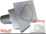 90 Series Teardrop Flat Fuel Door
