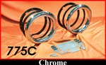 "7-3/4"" Chrome Frenched Headlamp Conversion Set"