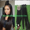Silky Straight 4x4 Lace Closure with Bundles