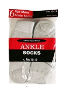 Wholesale Men's Ankle Socks 6-Pair Pack - (10 Pack)