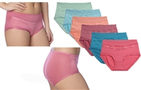 Wholesale Women's Dots Cotton Panties With Size Option (36 Pack)