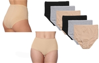 Wholesale Women's Cotton Ribbed Brief With Size Option (36 Pack)