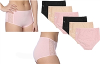 Wholesale Women'sCotton Full Cut Panties With Side Lace and Size Option