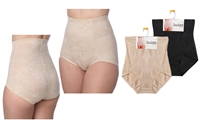 Wholesale Women's Isadora Shapewear Elegant Shiny Floral Control Brief