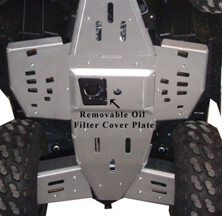 2010 Polaris Sportsman 850 8-Piece Complete Aluminum Skid Plate Set By Ricochet 7273F