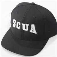 Richardson Fitted Hat with SCUA Logo - Black