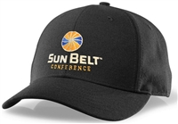 Richardson Fitted Hat with Sun Belt Logo - Black