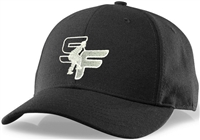 Black Richardson Surge Fitted Umpire Hat with StrikeForce Logo