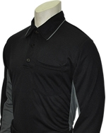 """MAJOR LEAGUE"" STYLE UMPIRE SHIRT - Long Sleeve - Black"
