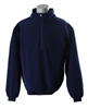 Smitty Long Sleeve Half-Zip Pullover in Solid Navy