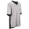 "Smitty's ""Elite"" Interlock Performance Gray w/Black Pinstripe and 3"" Side Panel V-Neck Shirt"