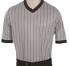 Smitty's Women's Performance Mesh Gray w/Black Pinstripe V-Neck