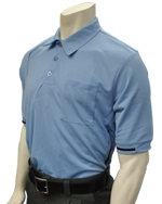 Smitty Short-Sleeve Pro-Style Umpire Shirt with BT Logo - Carolina Blue
